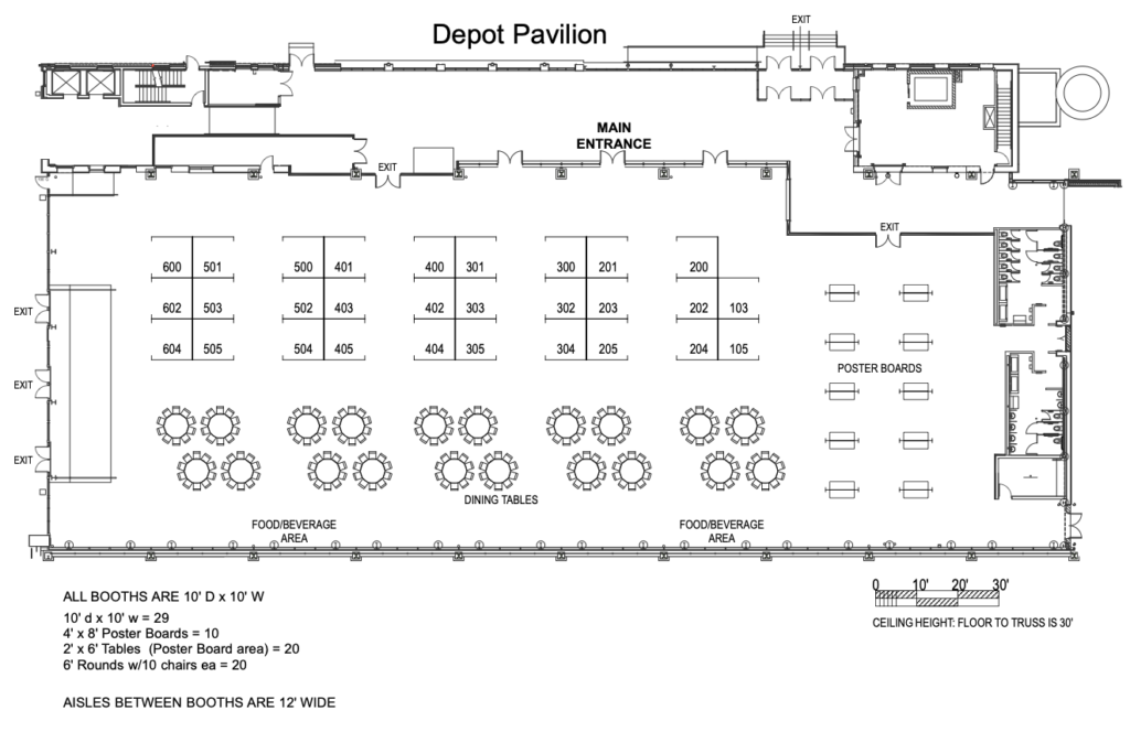 2019 Exhibit Hall Floor Plan - 62nd Annual Biosafety and Biosecurity Safety Conference