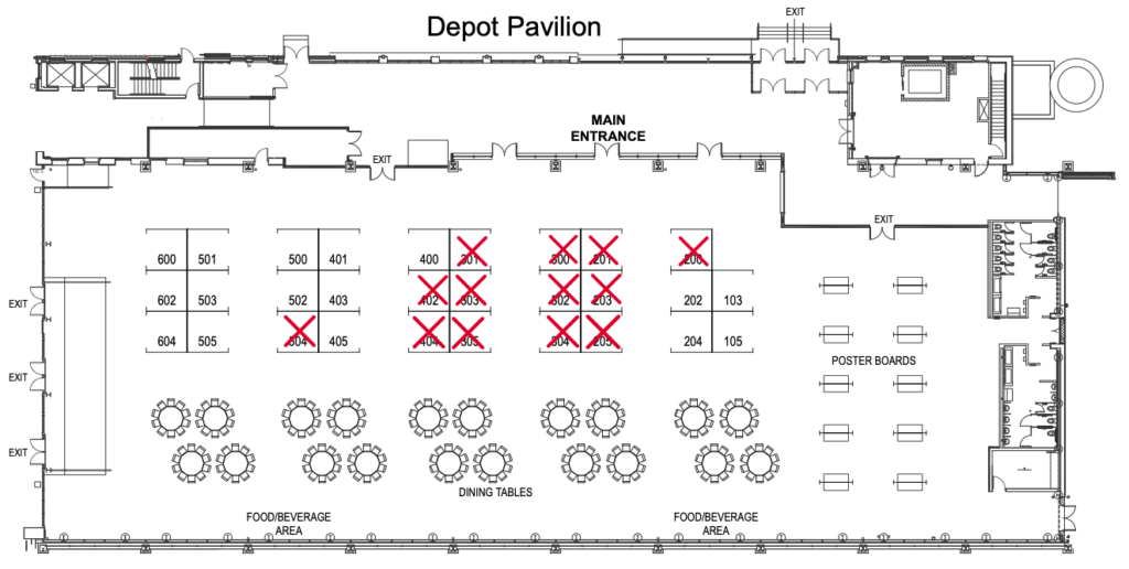 2020 Exhibit Hall Floor Plan - ABSA International's 1st Biosecurity Symposium